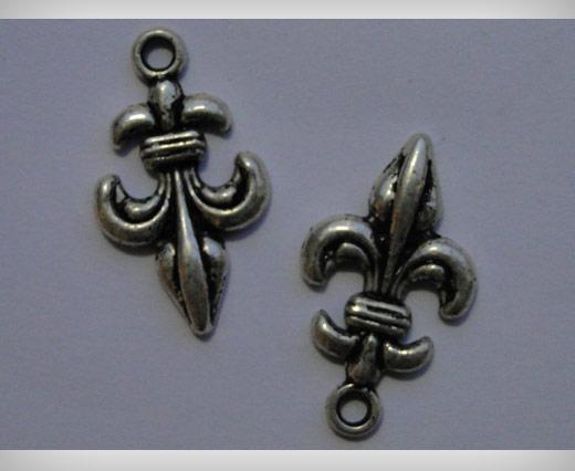 Zamak Silver Plated Bead CA-3090