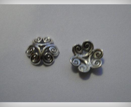 Zamak Silver Plated Bead CA 3097