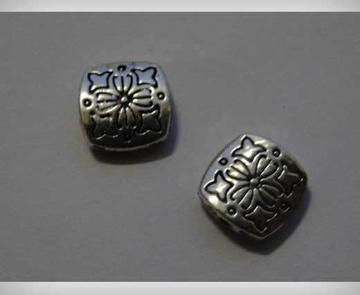 Zamak Silver Plated Bead CA 3100