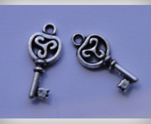 Zamak Silver Plated Bead CA-3107