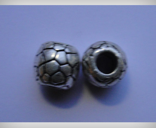 Zamac Silver Plated Beads CA 3110