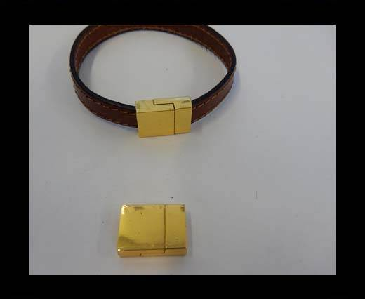 Zamak magnetic clasp ZAML-07-10.5*3MM-Gold