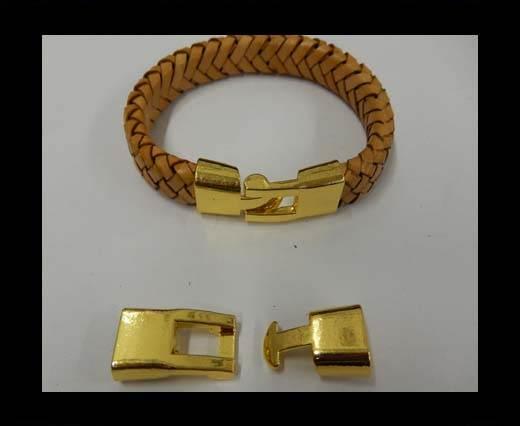 Zamak magnetic clasp ZAML-10-10*5.5mm-Gold