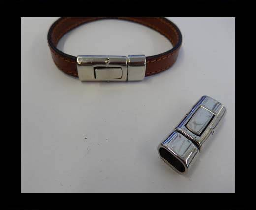 Buy Zamak magnetic clasp ZAML-14-10*5MM-Steel at wholesale prices
