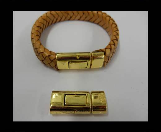 Buy Zamak magnetic clasp ZAML-14-10*5mm-Gold at wholesale prices