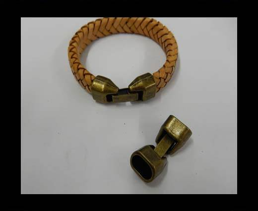 Zamak magnetic clasp ZAML-26-10by7mm-Anti Gold