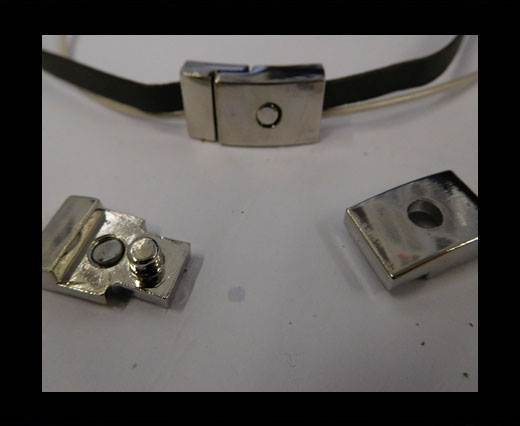 Buy Zamak magnetic clasp ZAML-29-10*3MM-STEEL at wholesale prices