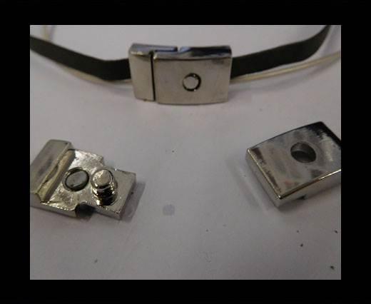 Zamak magnetic clasp ZAML-29-10*3MM-STEEL