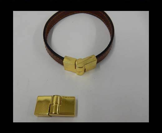 Buy Zamak magnetic clasp ZAML-49-10*3mm-Gold at wholesale prices