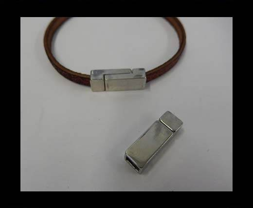Buy Zamak magnetic clasp ZAML-62-6*3mm-Steel Silver at wholesale prices