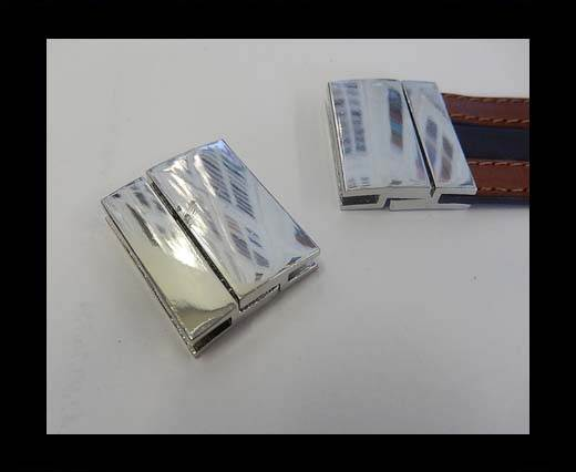 Buy Zamak magnetic clasp ZAML-70-30*2.5mm-Steel at wholesale prices