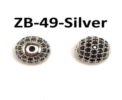 ZB-49-Silver 9*10mm